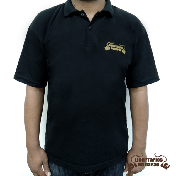 Camisa Libertários do Capão Preta Masculina